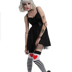 Hot Topic  corset tulle detail dress